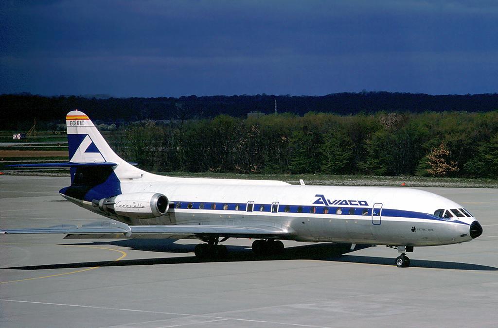 Aviaco_Sud_SE-210_Caravelle_10B1R_EC-BIE_BSL_1977-04-03