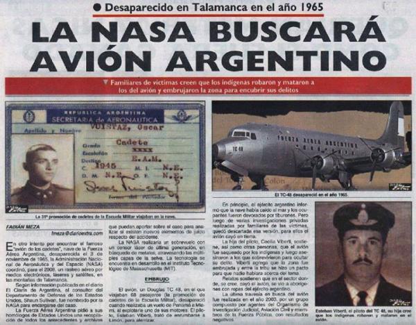 TC-48 Argentino desaparecido 3-11-65a