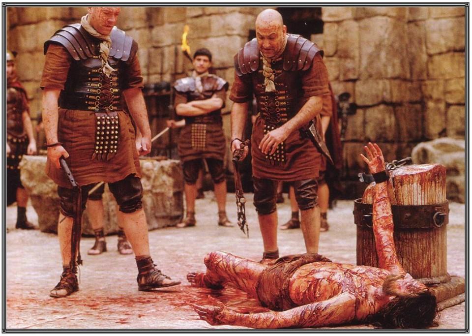 """Fotograma de la película """"La pasión de Cristo"""", momento de la flagelación"""