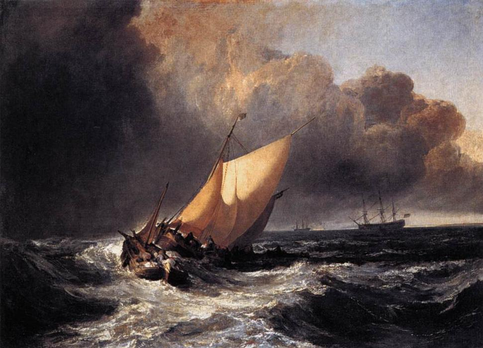 William-Turner-Dutch-Boats-in-a-Gale