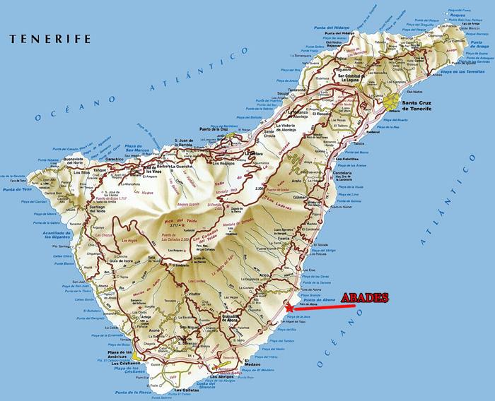 Mapa-de-carreteras-de-la-Isla-Tenerife
