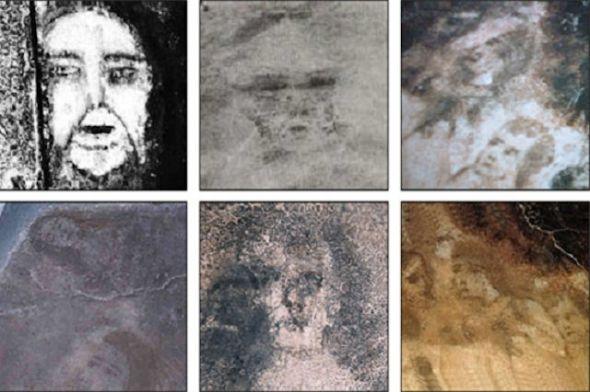 Algunas de las caras encontradas en casa de María Gómez Cámara.