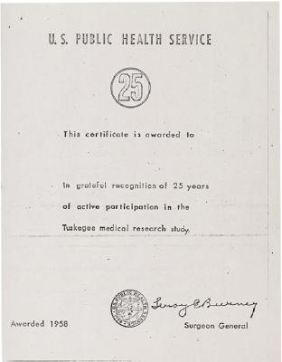 certificado tuskegee