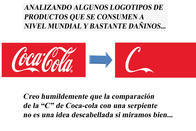 Similitud del logotipo de Coca-Cola con una serpiente.