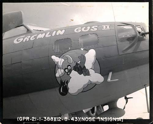 Gremlin Gus the Second B-17G 8-12-1943