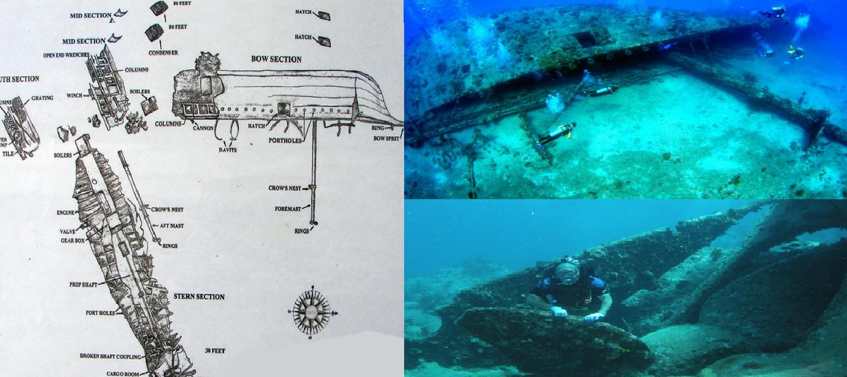 mapa y naufragio